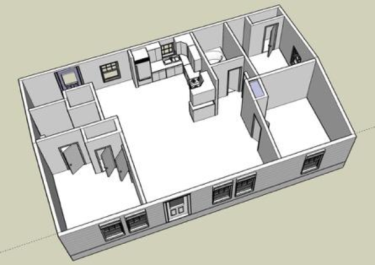 Rendering of the UTest House