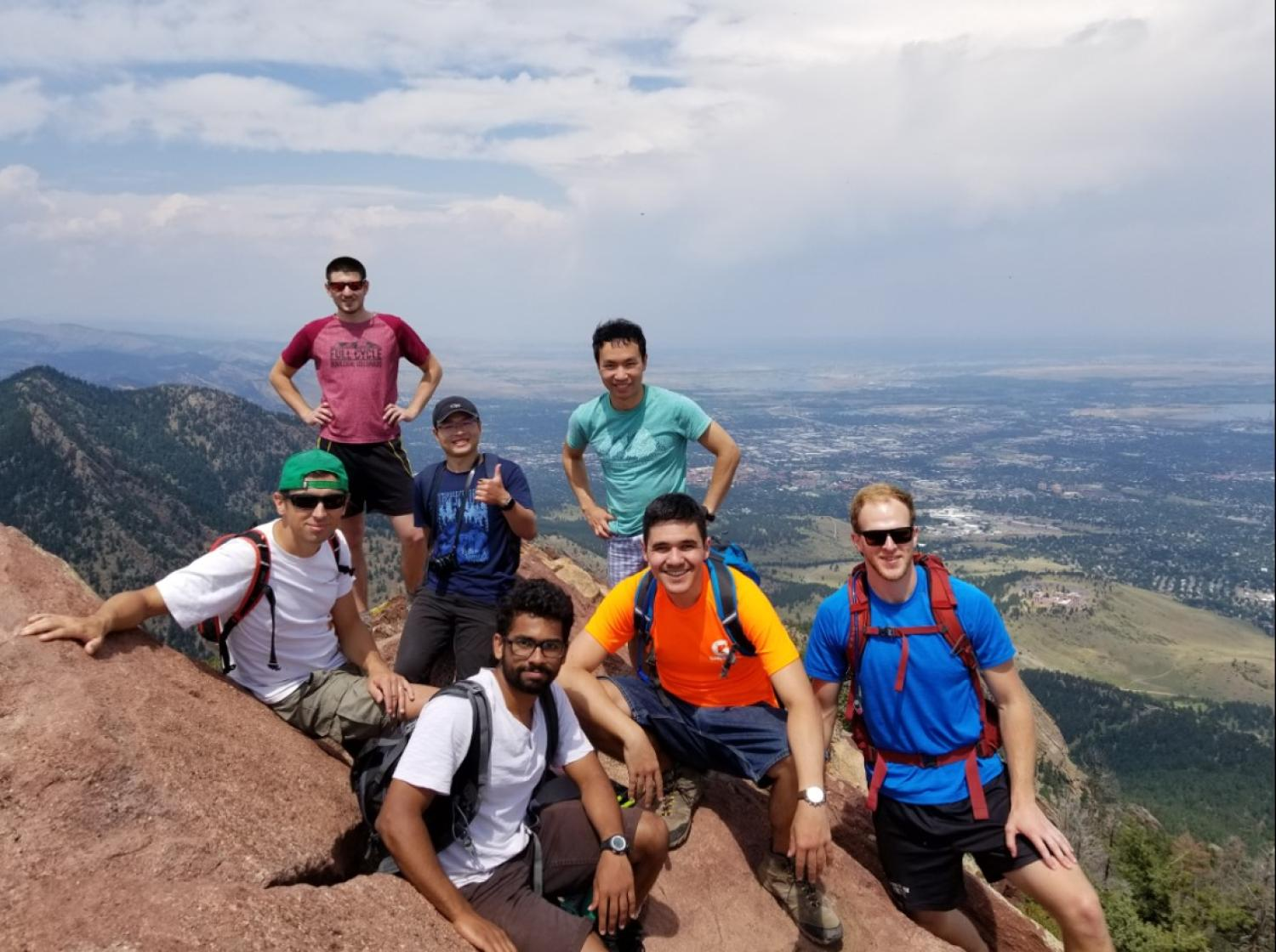 2016-17 Research Group hike on Bear Peak