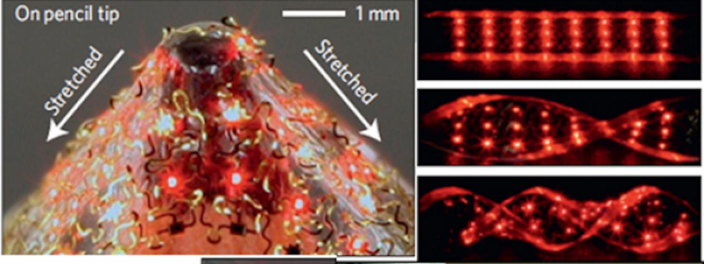 Stretchable Inorganic LEDs