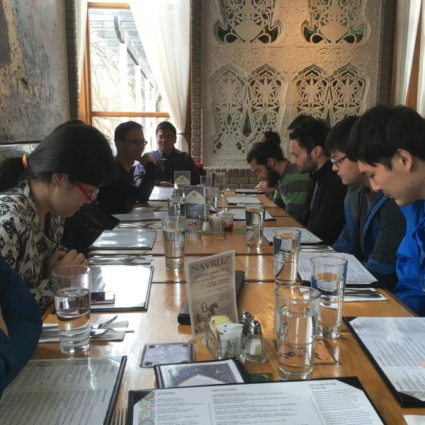 2016 Group lunch at Dushanbe Teahouse