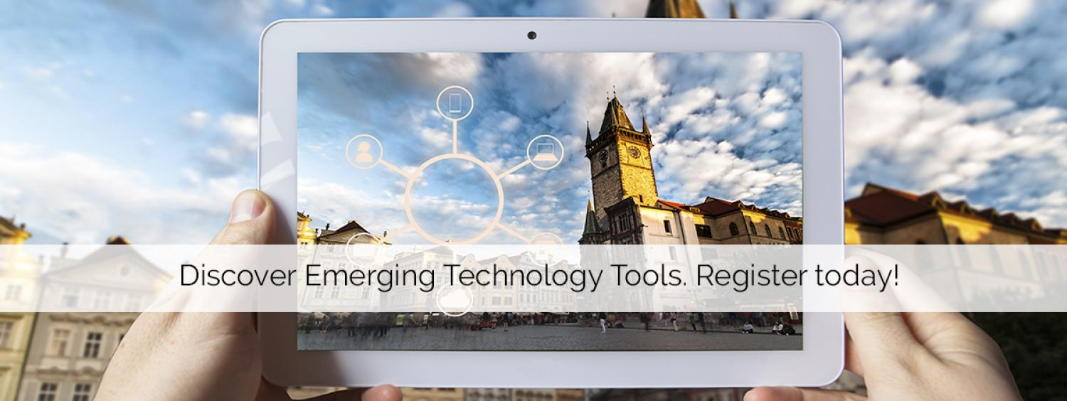 Discover emerging tools, register today!
