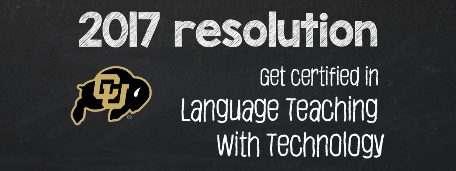 2017 resolution: get certified in language teaching with technology