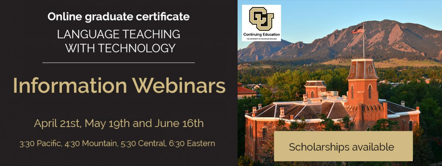 Webinar about the summer courses: April 21st, 2017, May 17th, 2017, June 16th, 2017 4:30pm MDT