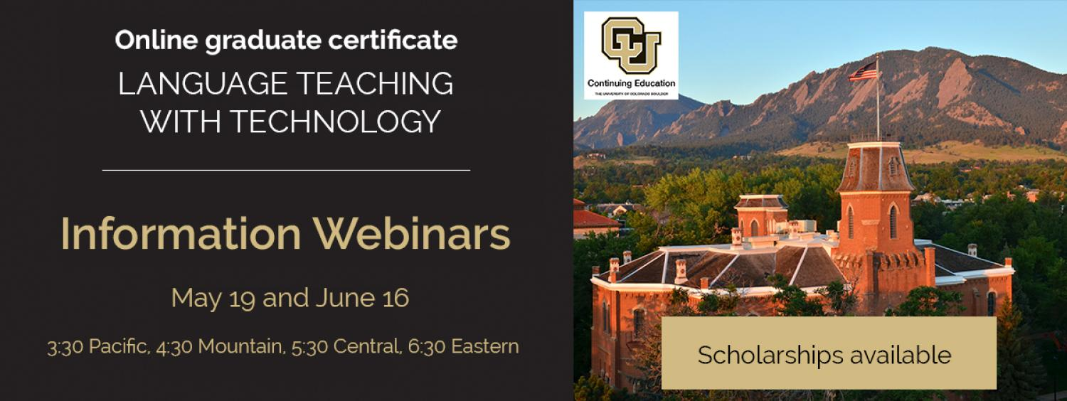 Webinar about the summer courses
