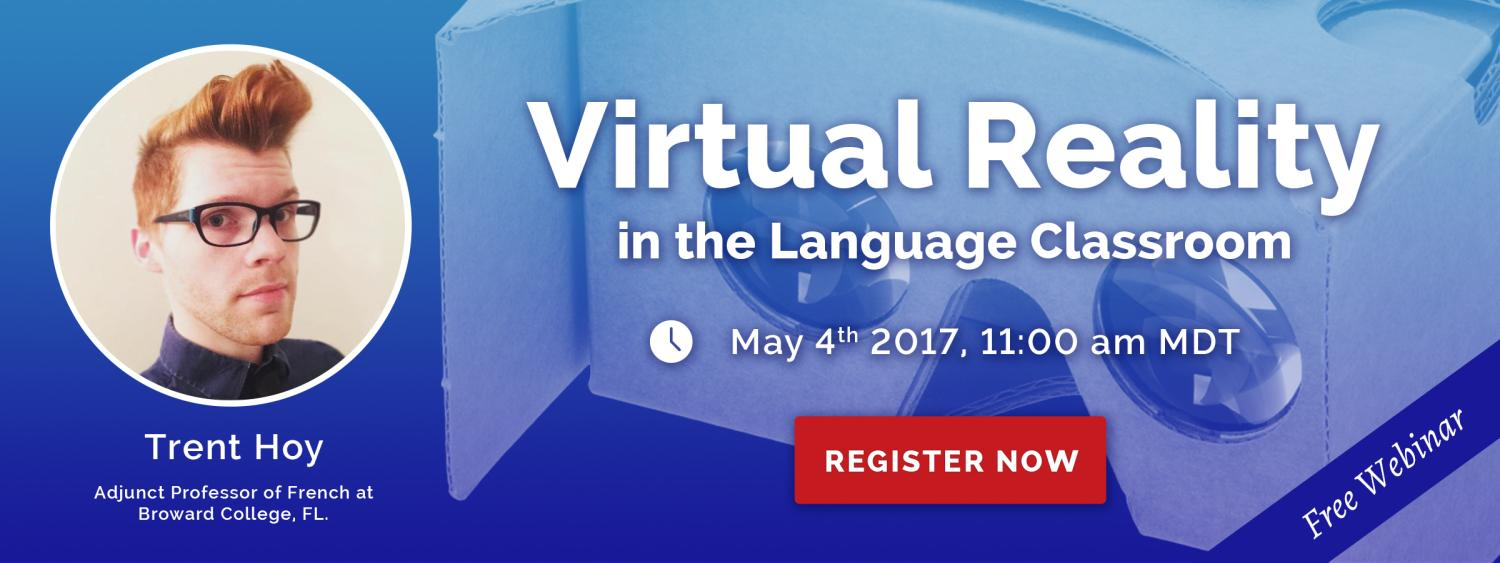 Register for this free webinar by Trent Hoy, certificate student and French teacher at Broward college (FL).