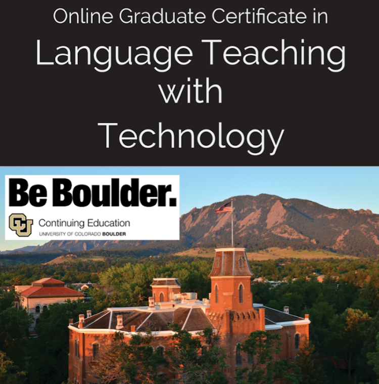Graduate certificate in language teaching with technology