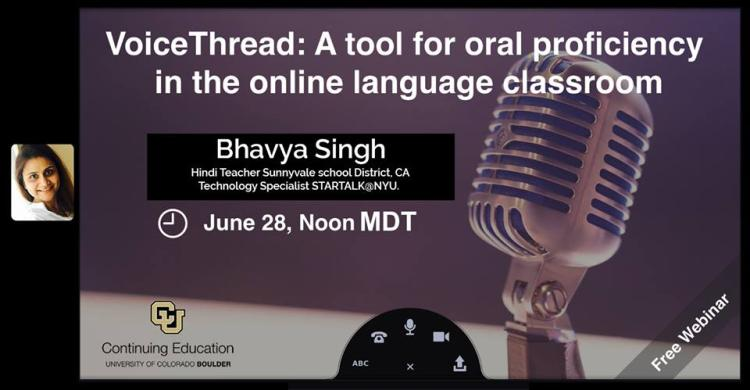 VoiceThread, a tool for oral proficiency in the online language classroom