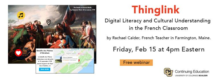 A Tool for Digital Literacy and Cultural understanding in the French Classroom. Rachael Calder, French teacher at Mt Blue Regional High School will present the final project she designed and implemented last fall when she took LGTC 5030, Tools in Practice. Register to attend live or to get a copy of the recording.