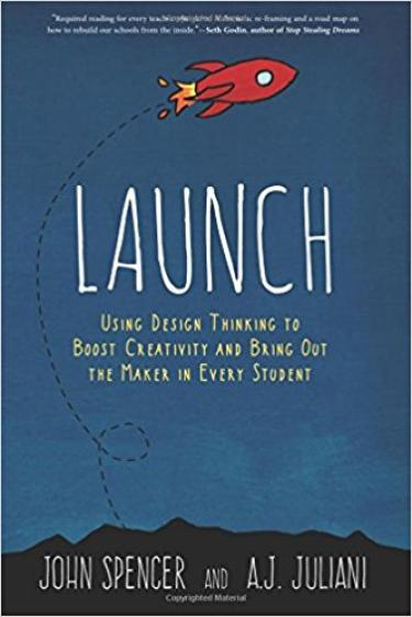 Launch book cover (rocket ship)
