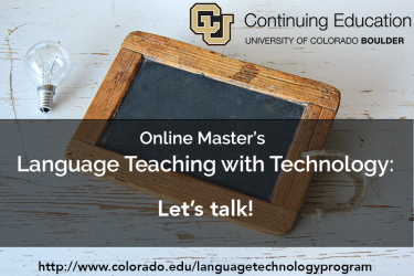 Master's program in language teaching with technology, let's talk.