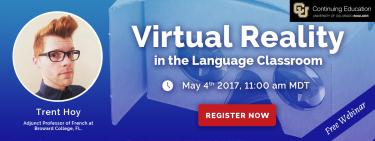 Virtual Reality in the language classroom, free webinar by Trent Hoy.