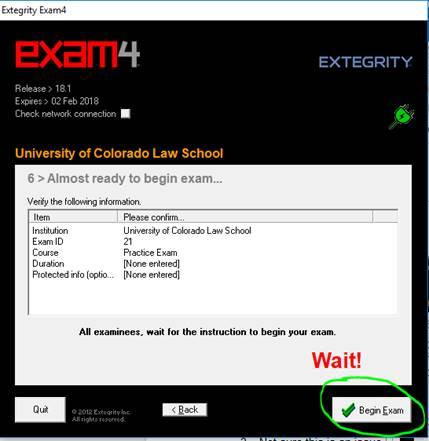 Exam 4 - Begin Exam