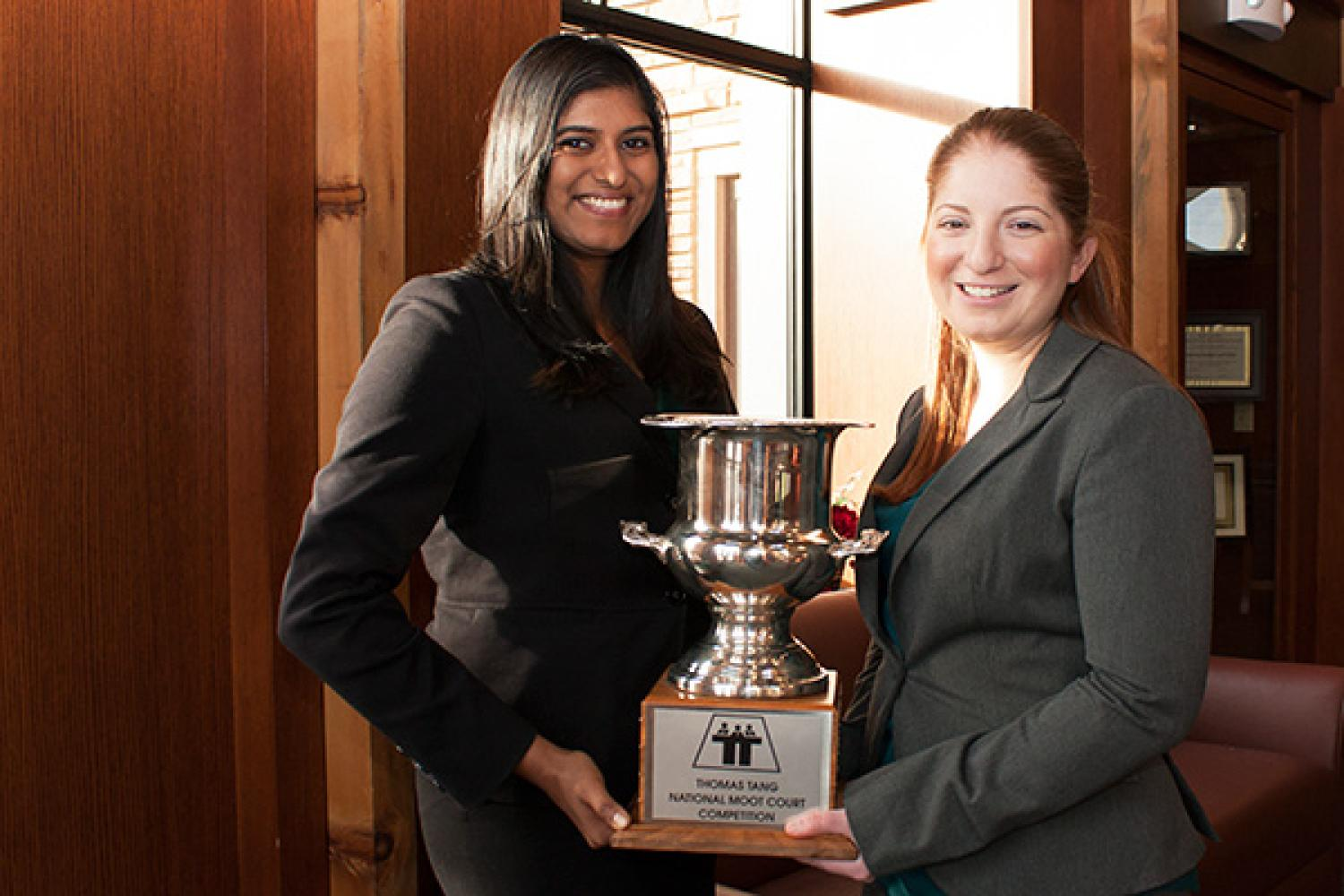 Surbhi Garg ('13) and Leah Gould ('14) won the National Asian Pacific American Bar Association's (NAPABA) National Thomas Tang Moot Court Competition in Washington, D.C.