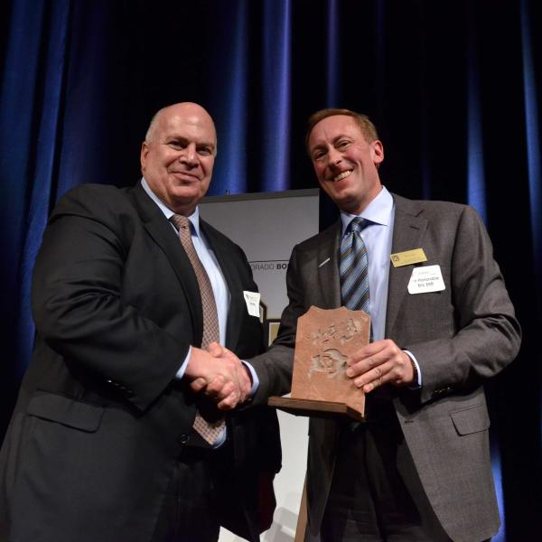 Thomas M. Ray ('86), for Distinguished Achievement in Industry and Judge Eric Elliff ('87)