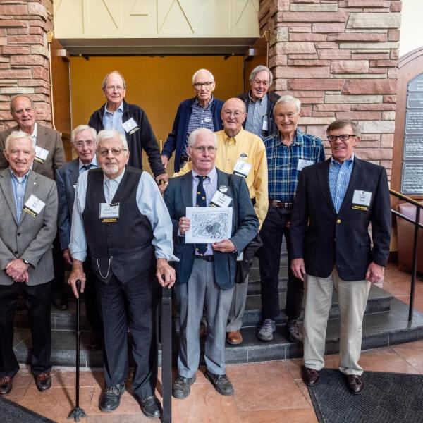 The Golden Buffalo Lunch celebrated members of the classes of 1968 and earlier.