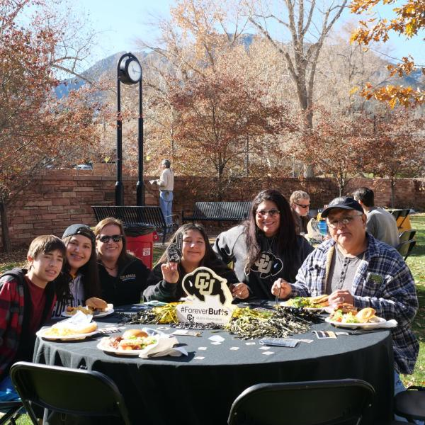A group at the 2019 Homecoming Law Buffs BBQ.