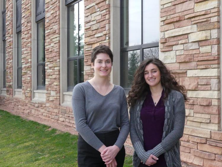 Rachel Calvert and Domonique DiNallo