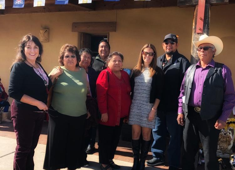Kristen Carpenter and Yaqui delegation
