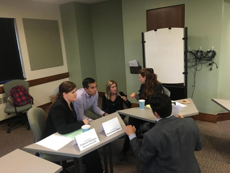 Law students in Spain Bradley's International Dispute Resolution class.