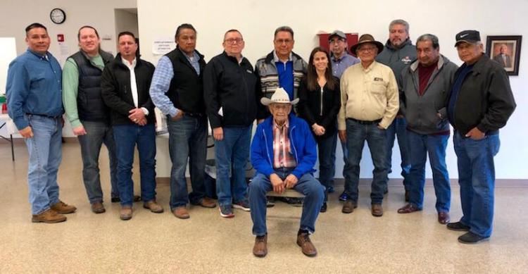 Kristen Carpenter and tribal ceremonial leaders in Oklahoma