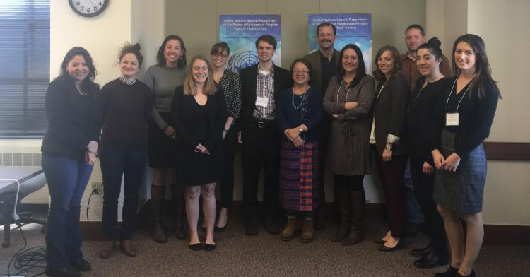 Colorado Law students, faculty, and staff with U.N. Special Rapporteur on the Rights of Indigenous Peoples Victoria Tauli-Corpuz