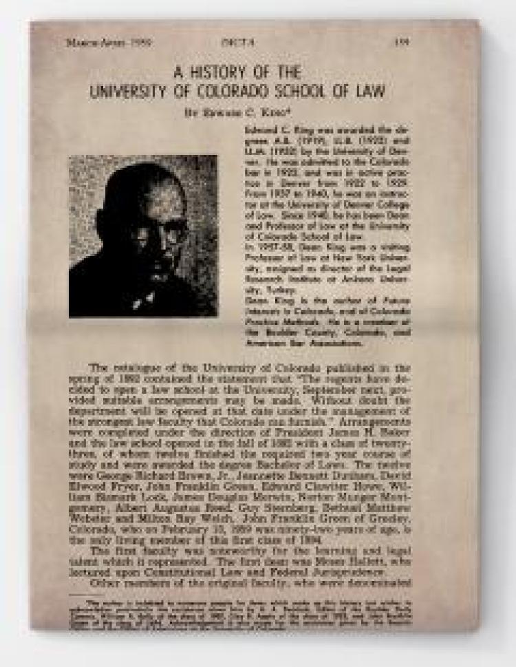 125 Years of Colorado Law Colorado Law