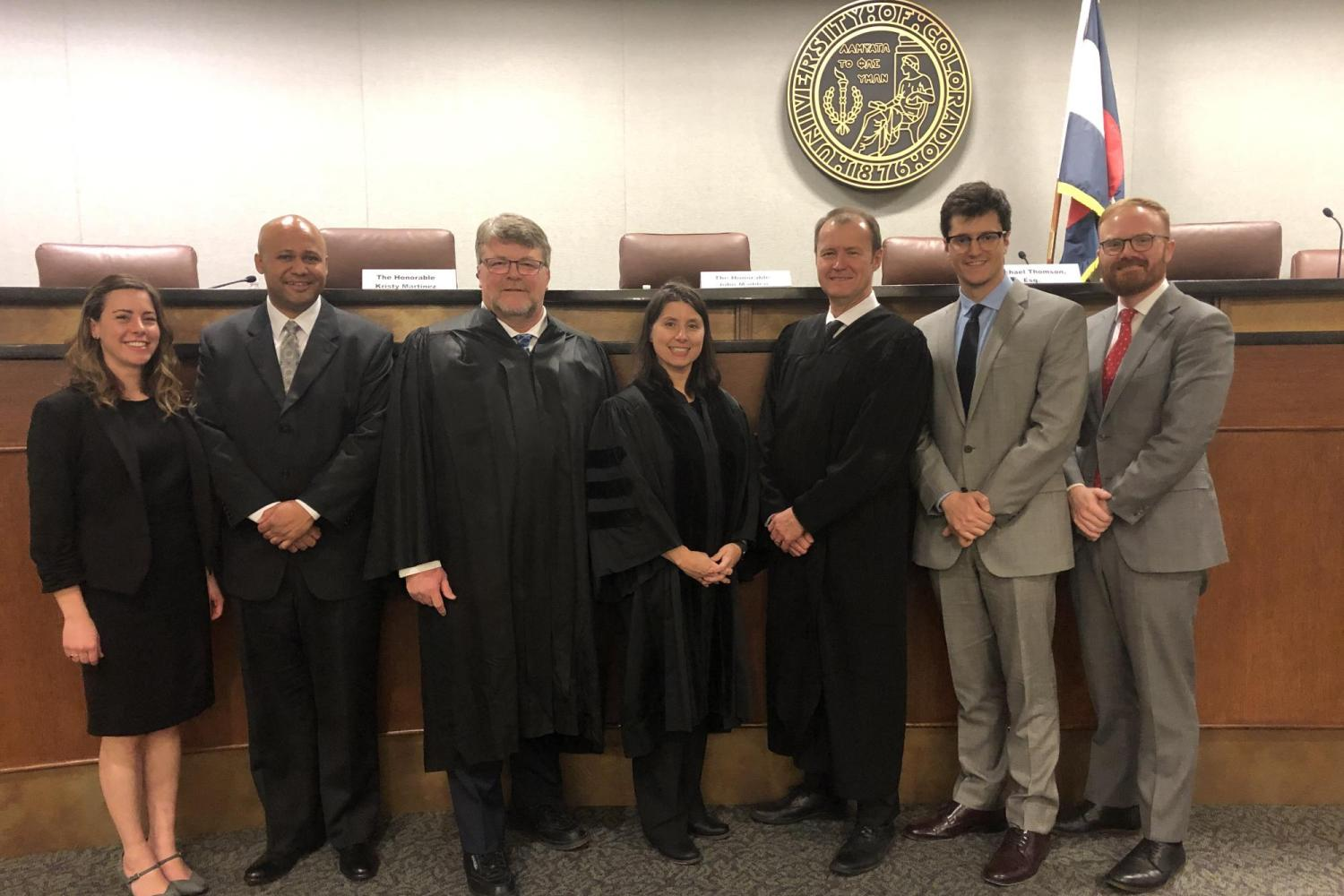Student Competitors and Judges at the 2020 Purvis Gray Thomson Mock Trial Competition