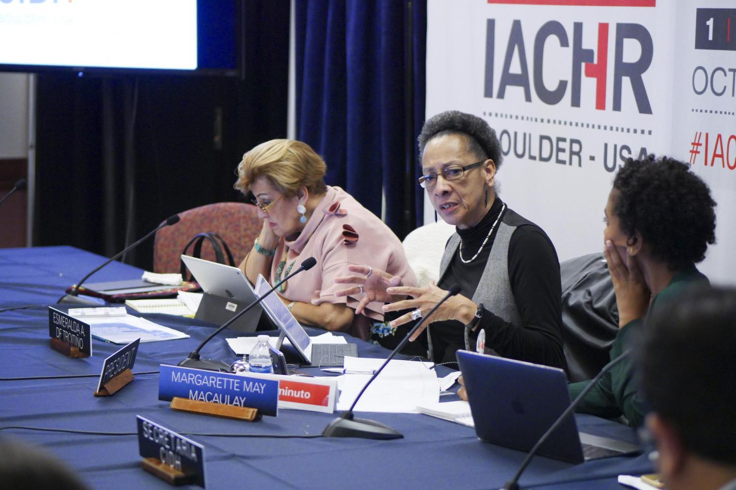 IACHR session