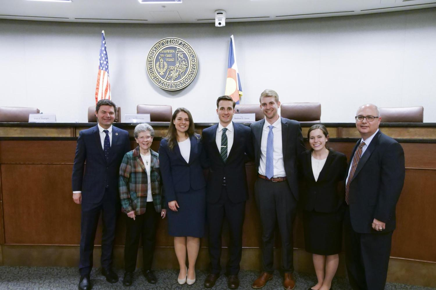 Student Competitions and Judges at the 2019 Rothgerber Moot Court Competition