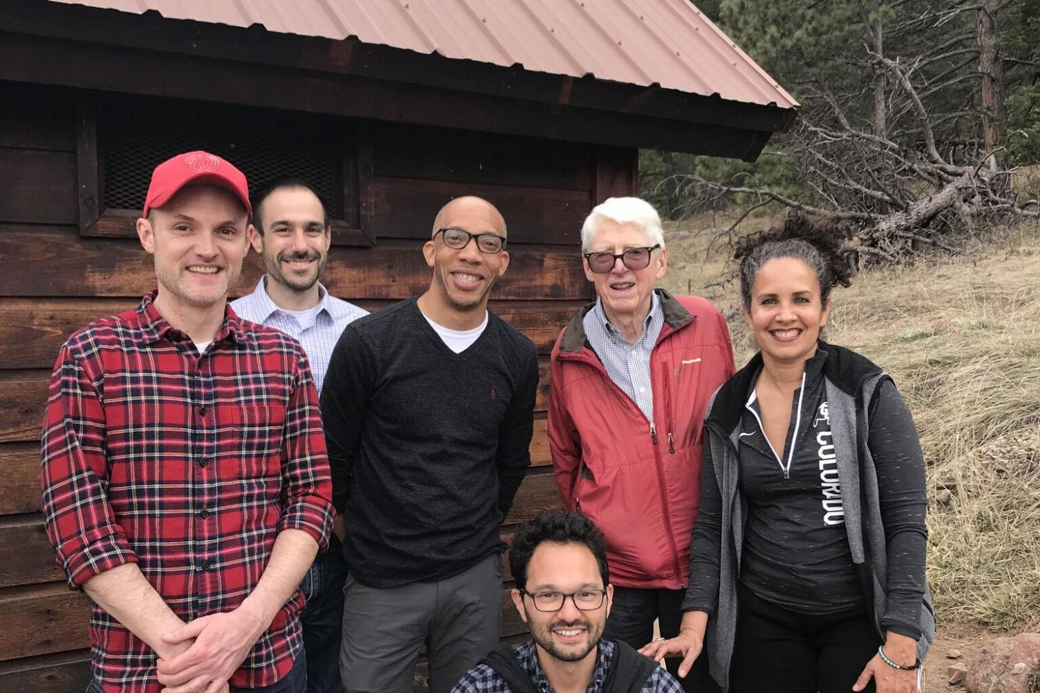 Rothberger scholars together for a hike in Boulder