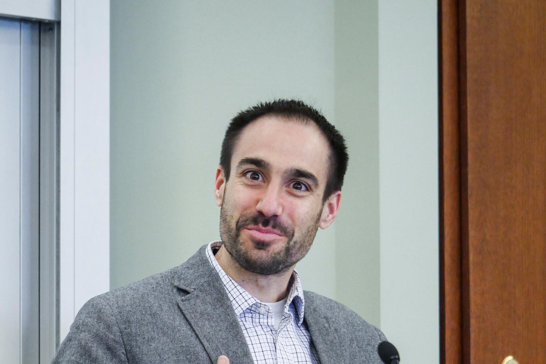 Panelist Zachary Clopton of Cornell
