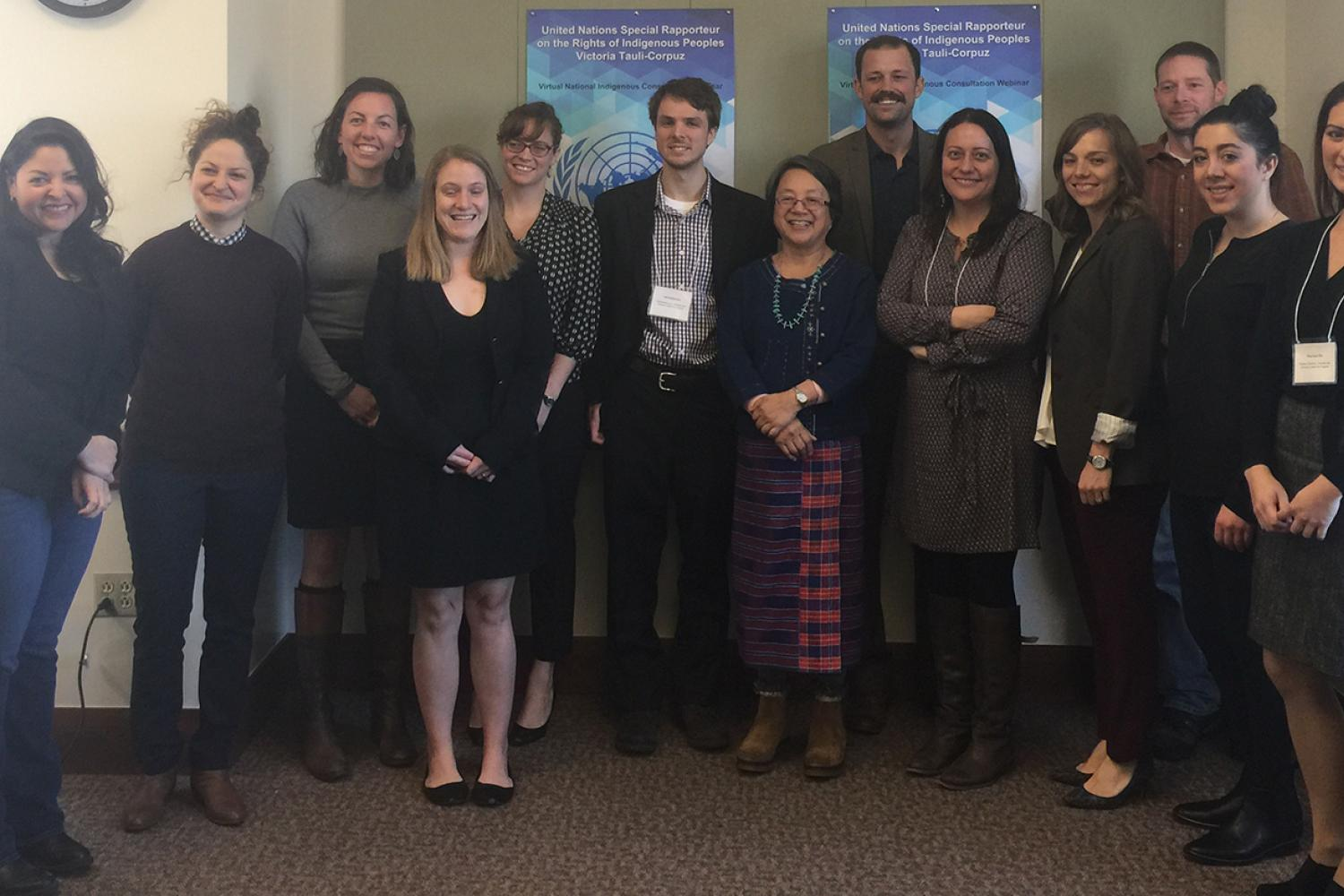 Colorado Law students, faculty, and staff meet with UN Special Rapporteur on the Rights of Indigenous Peoples