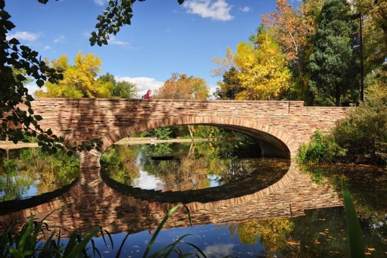 Campus's Varsity Lake feeds into Boulder Creek
