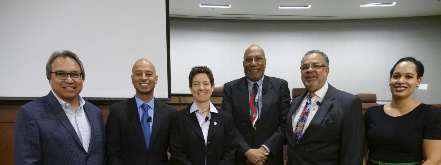 Panelists at Black History Month discussion