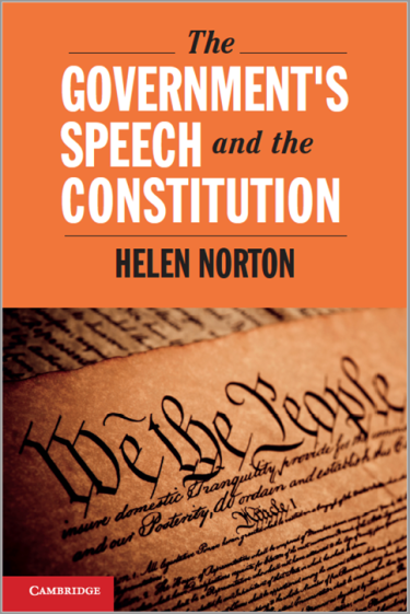 The Government's Speech and the Constitution