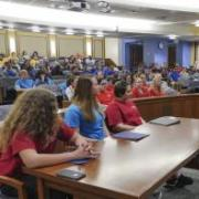 Students in Mook court