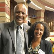 Former Justice of the South African Constitutional Court Yakoob and Professor Malveaux