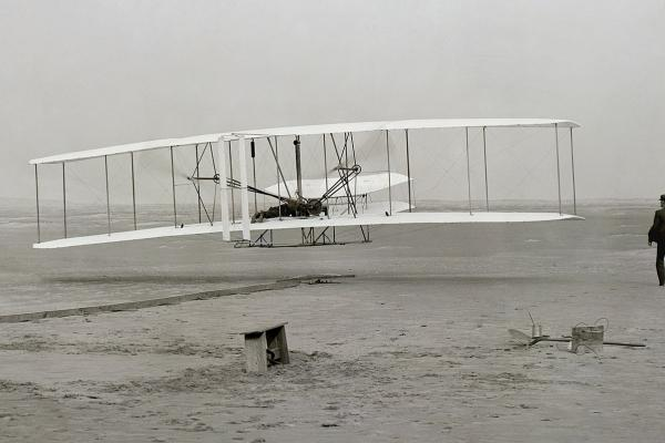 Wright Brothers first motorized flight