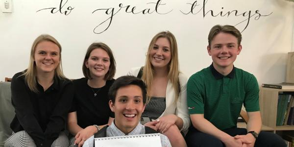 Leeds scholars posing for a photograph