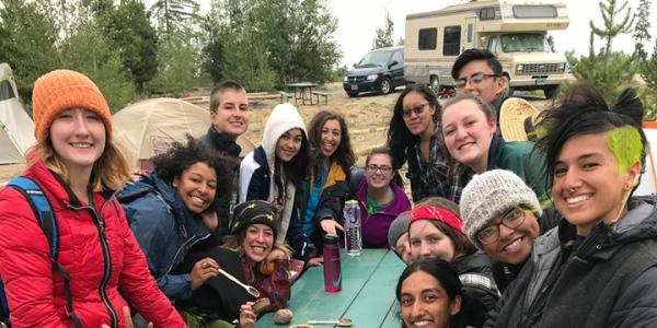 INVST students out in nature