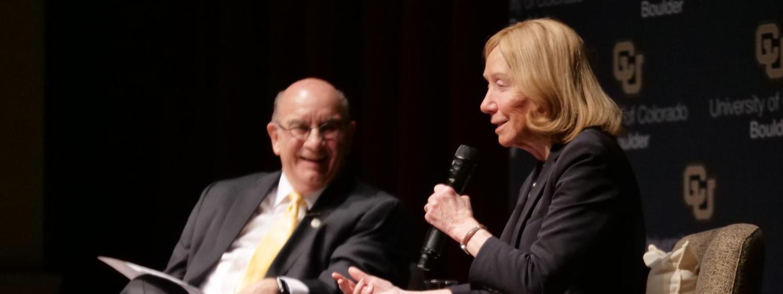 Doris Kearns Goodwin with Chancellor DiStefano
