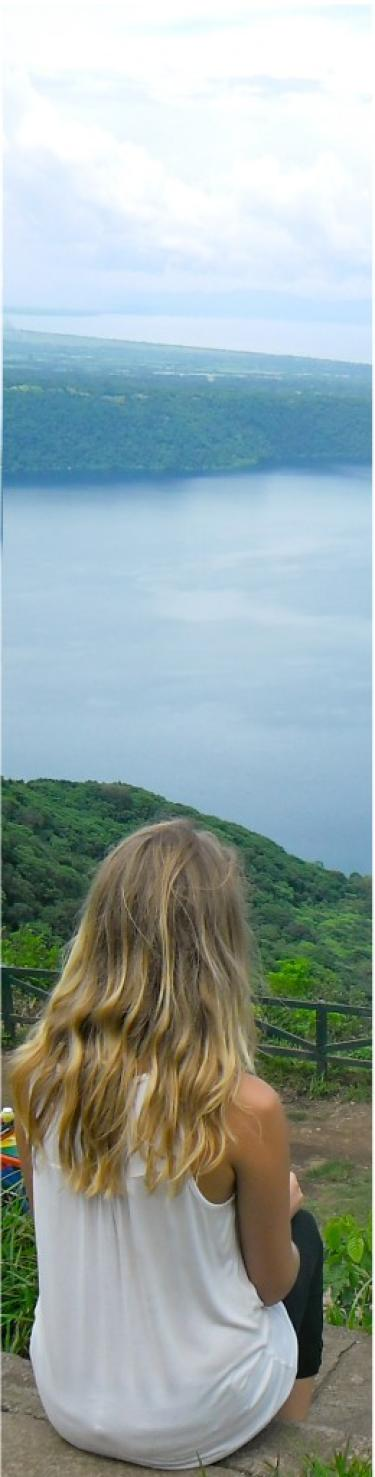 A student observing her study abroad derstination