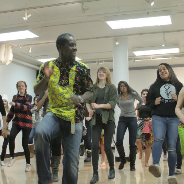 African Dance class dancing