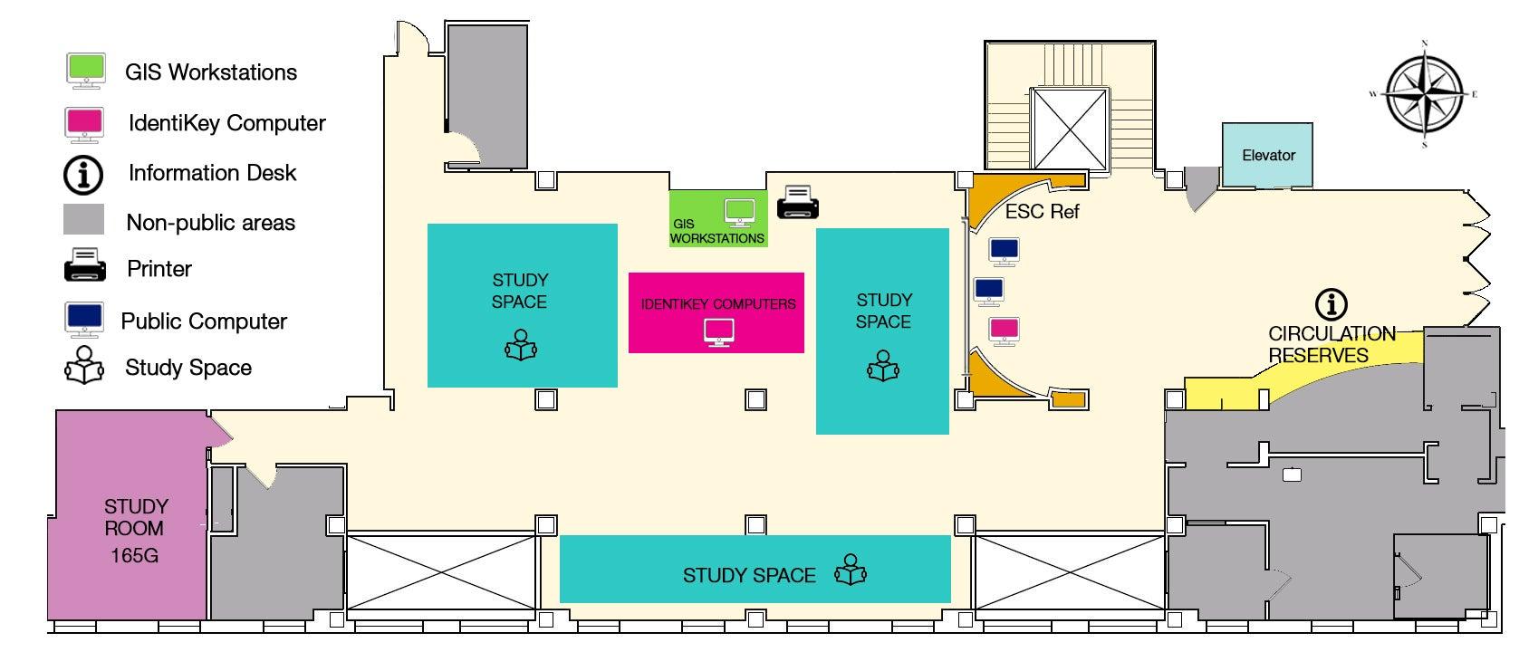 Earth Sciences Map Library Floor Plans University Libraries University Of Colorado Boulder
