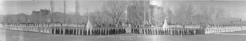 May Day Fete celebration in 1912 at CU Boulder.