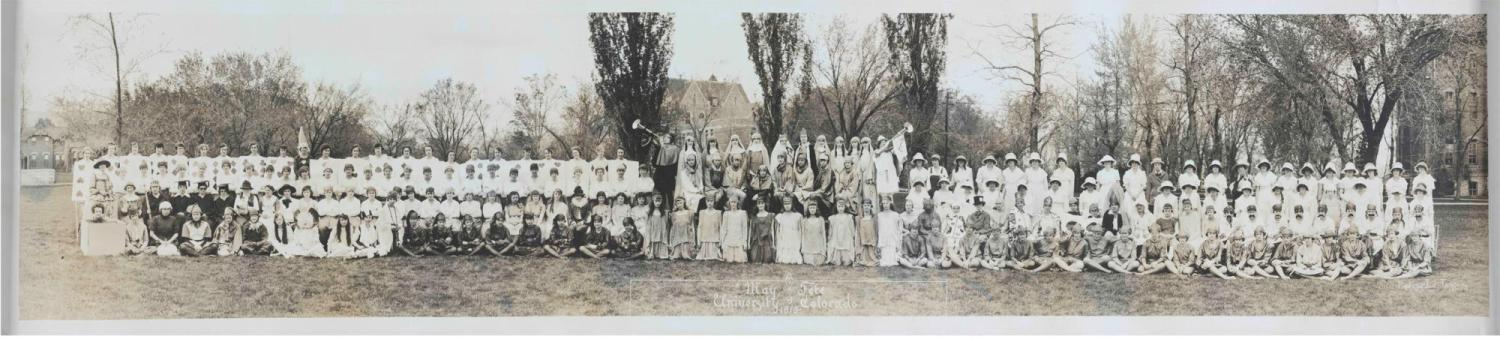 May Day Fete in 1919 at CU Boulder