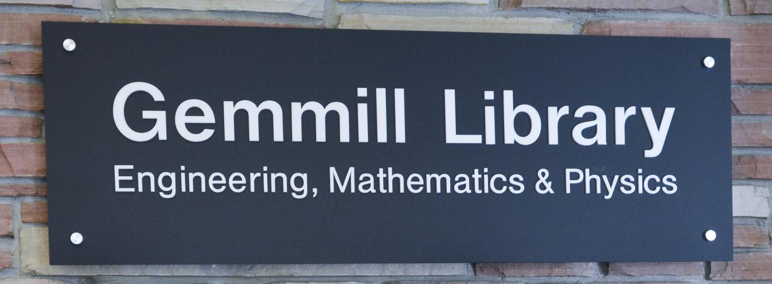 Gemmill Library Sign