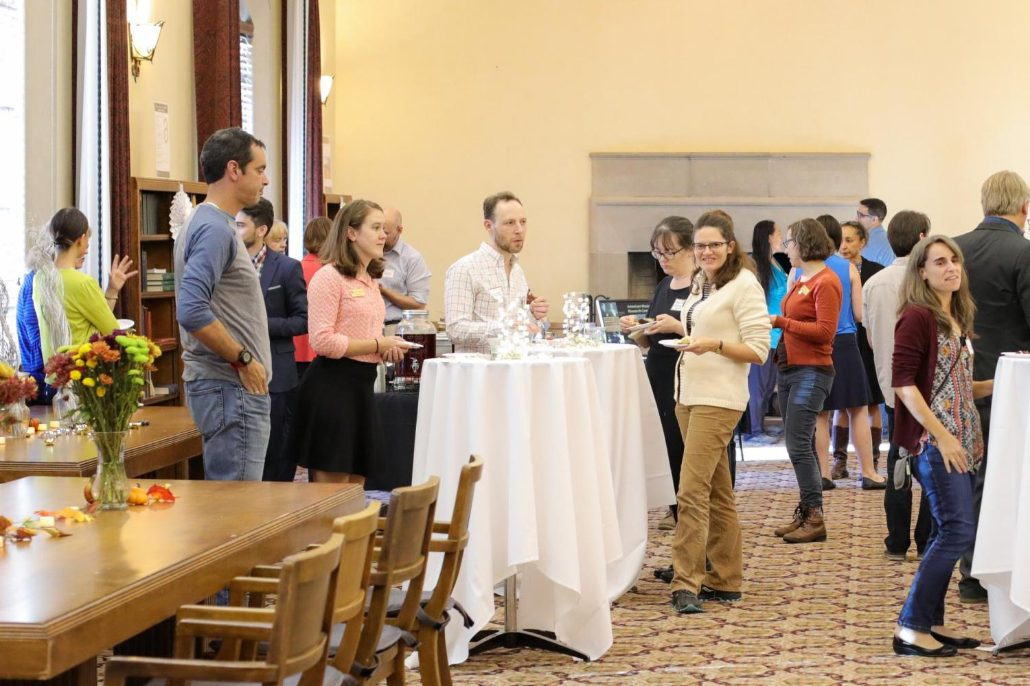 Large group at the Fall Faculty reception