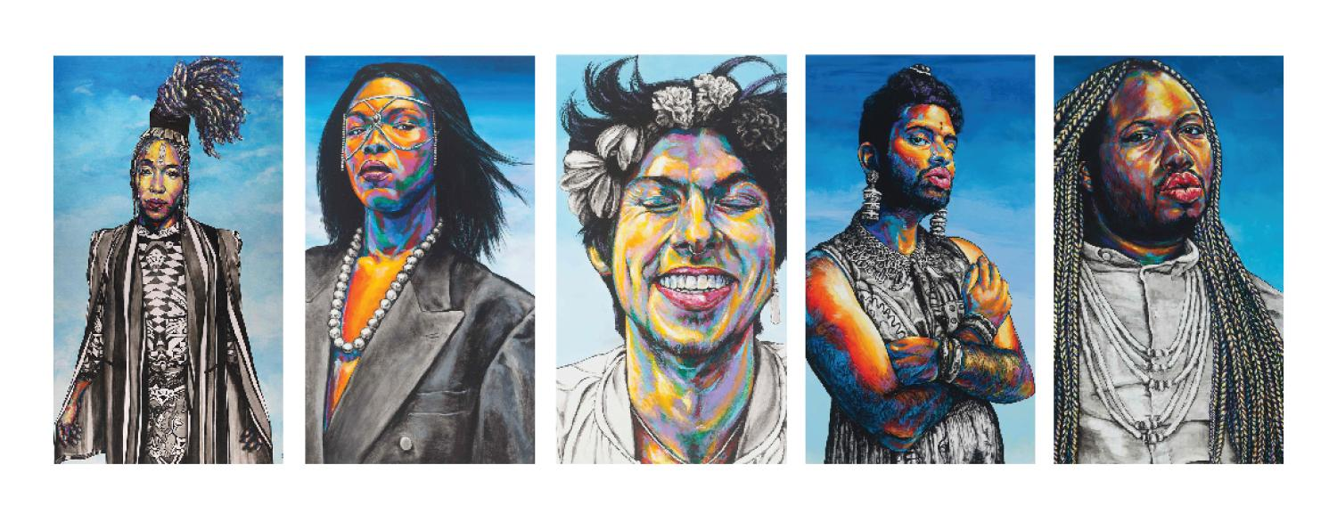 Portraits by the artist