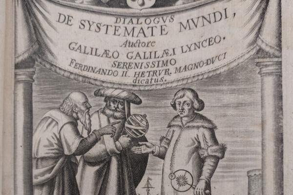 Illustration from historical science text authored by Galileo